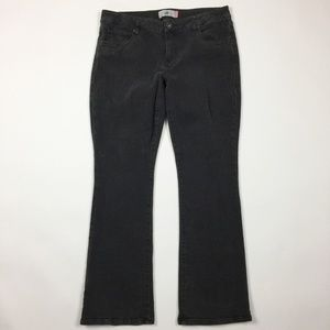 CABI Jeans Shadow Gray Slim Boot Cut Jeans